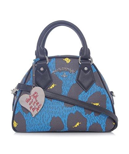 Vivienne Westwood Accessories Leopardmania Yasmine Bowling Bag Blu Unica Taglia