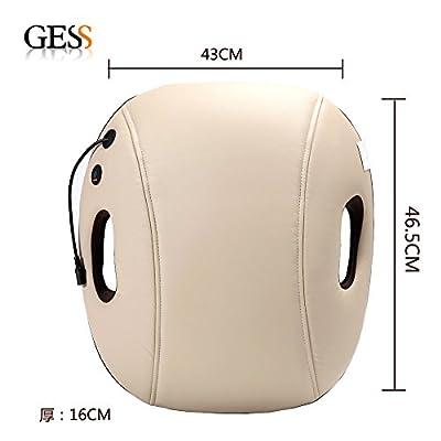 GESS GESS120 Shiatsu and Vibration Back Massage Cushion Massage Piollw Shoulder Back Massage with Heat