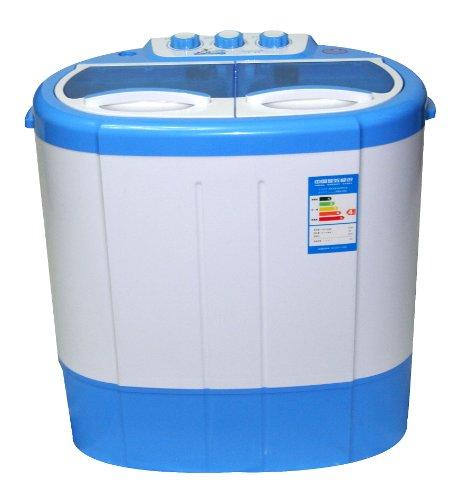 鸭鸭(yaya)2.0公斤半自动迷你双桶洗衣机xpb20-208s图片