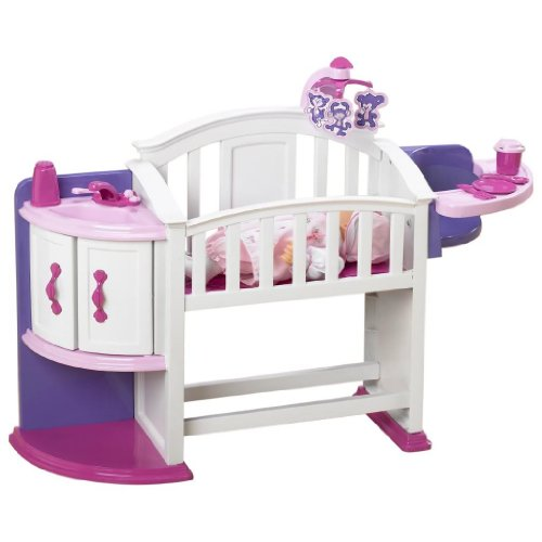 Toy / Game Wonderful American Plastic Toy My Very Own Nursery Set with Crib, storage shelf and cupboard - 1