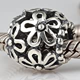 Wildflower Walk Authentic 925 Sterling Silver Bead Fits Pandora Chamilia Biagi Troll Charms Europen Style Bracelets