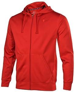 Nike Men's KO Full Zip Training Hoodie-Red-Large