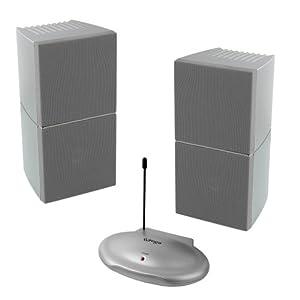 funk lautsprecher stereo 2 x 3 5watt sinus boxen mit bassboost. Black Bedroom Furniture Sets. Home Design Ideas