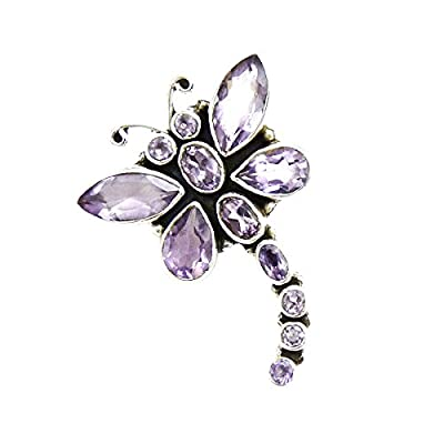 Shankar Silvex ZmakePurple Color , Amethyst Stone , 3.8x2.9 CM Size , Silver Pendant For women & Girls