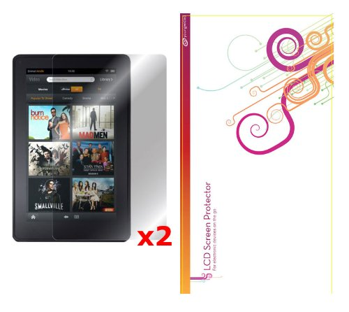rooCASE 2-Pack HD Invisible Screen Protector Film for Amazon Kindle Fire 7-Inch Android Tablet – Lifetime Replacement Warranty (NOT Compatible with Kindle Fire HD)