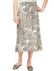 Classic Collection Two Tone Palma Swirl Skirt with Belt
