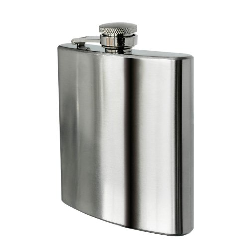 SHOP OF ACCESSORIES® 8 oz Stainless Steel Hip Whiskey Flask