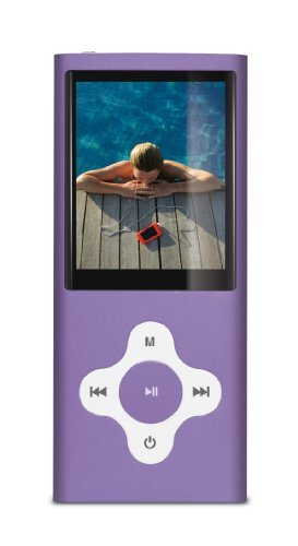 Sylvania SMPK8099 8 GB Video MP3/MP4 Player with FM Tuner, Built in Camera/Camcorder and 2-Inch Screen (Purple)