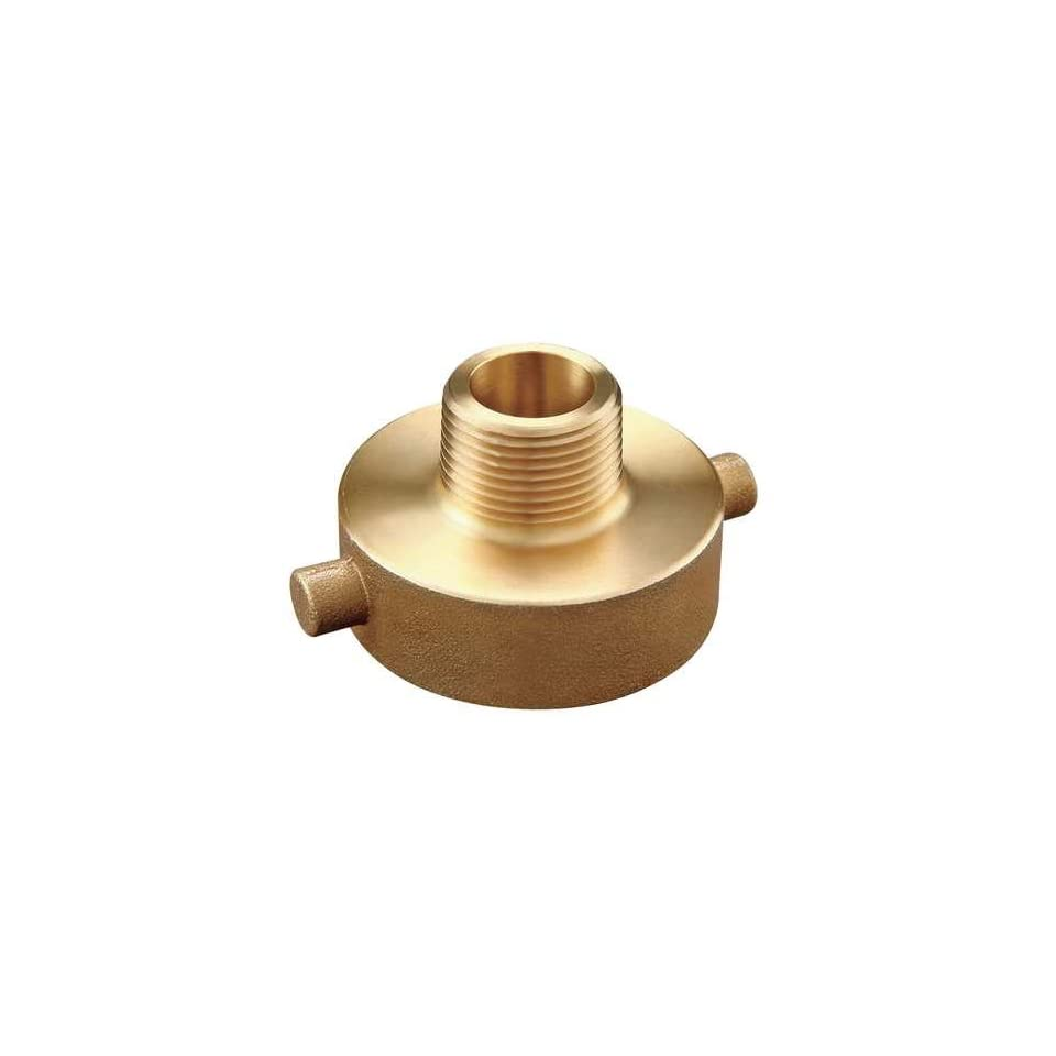 Brass Hydrant and Fire Hose Adapters Adapter,1 1/2 FNST x 3/4 MNPT,Br
