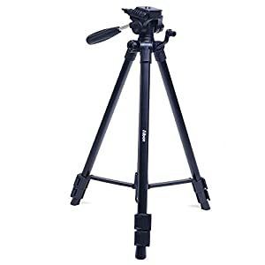 Albott 63 Inch Professional SLR Camera Aluminum Travel Tripod Portable with Carry Bag