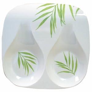 Corelle Coordinates Double Spoon Rest, Bamboo Leaf by Corelle Coordinates