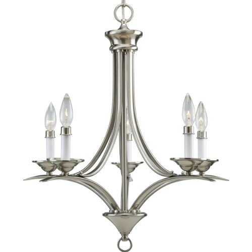 Stunning Progress Lighting P Light Chandelier Brushed Nickel