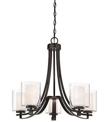 Smoked Iron 5 Light 1 Tier Mini Chandelier from the Parsons Studio Collection Model-4105-172