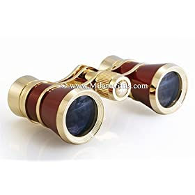 Milana Optics - Opera Glasses - Aria - Burgundy Finish with Golden Rings