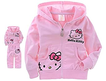 Girls Baby Suit Children's Clothing Set Pink Suit Kids Hello Kitty Kt Cartoon Cat Shirt+pants 2pcs Minnie Mickey Mouse Alince