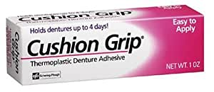 Cushion Grip Thermoplastic Denture Adhesive 1 oz