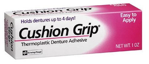 Cushion Grip Thermoplastic Denture Adhesive - 1 oz
