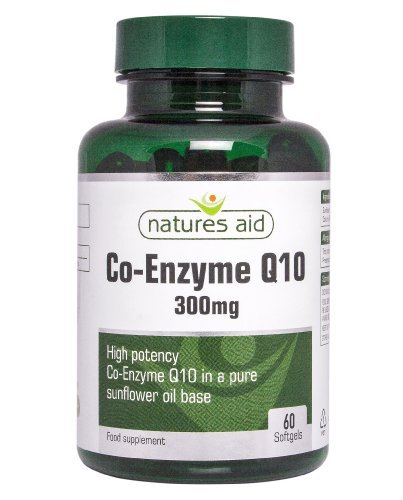 Natures Aid Co-Q-10 300Mg (Co-Enzyme Q10), 60 Softgels