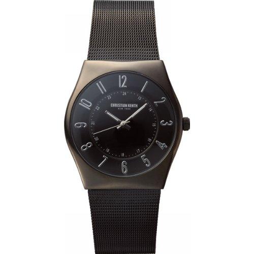nobrand クリスチャンケンス ブラック紳士ウオッチ メンズ腕時計 ブラック(CK505G)