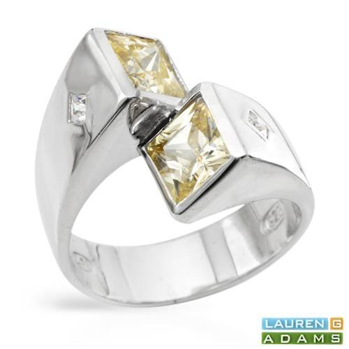 LAUREN G. ADAMS Majestic Ring With 7.70ctw Cubic zirconia Made of 925 Sterling silver. Total item weight 7.4g (Size 10)