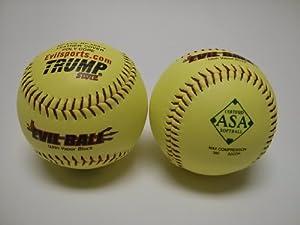 Buy 1 Dozen ASA Evil Ball 12 Softballs 52 COR 300 Compression 12 Balls (MP-EVIL-RP-ASA-Y) by Trump/Evil Sports