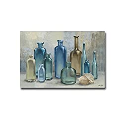 Glass Bottles by Michael Marcon Premium Gallery Wrapped Canvas Giclee Art (Ready-to-Hang)