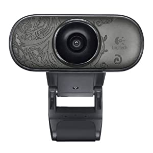 Logitech C210 - Webcam, color negro