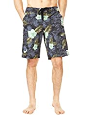 XXXL North Coast Painted Floral Cargo Swim Shorts