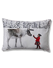 Holly & Reindeer Cushion