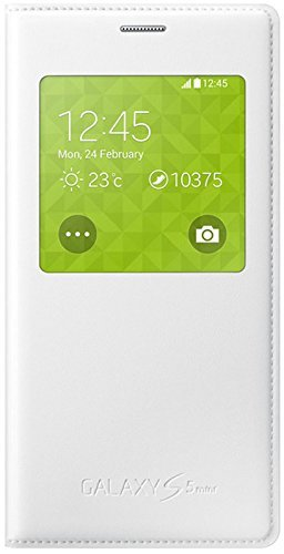 Samsung Cover S-View EF-CG800BW for Galaxy S5 Mini metallic white (Samsung Galaxy Mini S5 White Case compare prices)