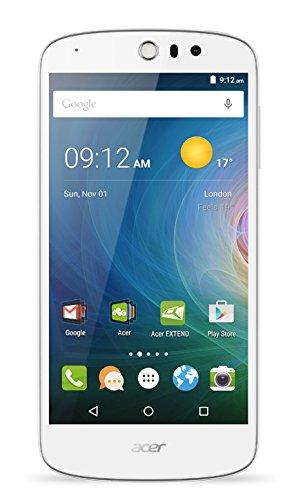 Acer Liquid Z530 Dual-SIM LTE Smartphone (12,7 cm (5 Zoll) IPS HD Zero-Air-Gap Display, 1280 x 720 Pixel, Quad-Core-Prozessor, 8 Megapixel, 1GB RAM, 8GB Speicher, Android 5.1)  weiß