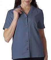Ultraclub 8981 UC Lady Solid Camp Shirt - Wedgewood - L