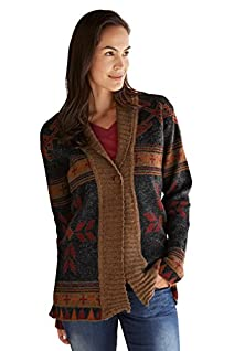 Tey-Art Heritage Alpaca Shawl Collar Fair Trade Cardigan