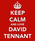 Keep Calm And Love David Tennant Keyring - 5cm x 3.5cm