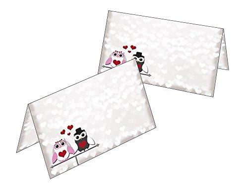 50Segnaposto, design Gufi in Love 2516-50