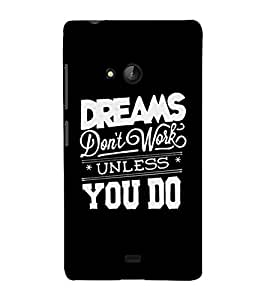 A CONFIDENTIAL QUOTE WITH A BLACK BACKGROUND 3D Hard Polycarbonate Designer Back Case Cover for Nokia Lumia 540 :: Microsoft Lumia 540