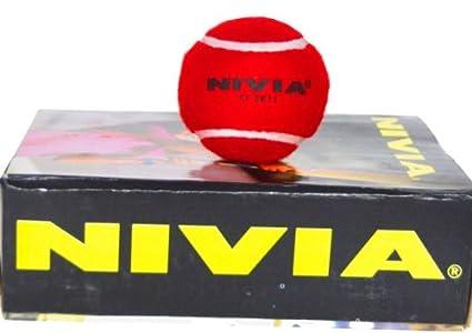 Hard & Heavy Cricket Tennis Balls (Red Balls Pack of 6)