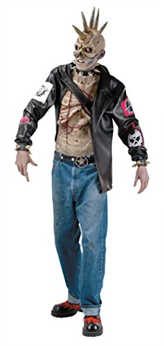 Rubies Mens Scary Outcast Punk Zombie Theme Party Fancy Halloween Costume
