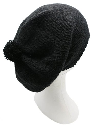 Handmade Alpaca Rasta Hat – Pure Black (Knitted By Hand)
