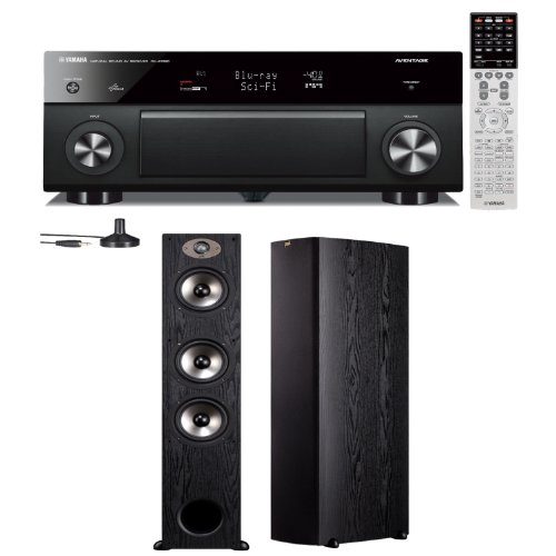 Yamaha Rx-A1030 7.2 Channel Network Aventage Receiver Plus A Pair Of Polk Audio Tsx 440T Floorstanding Speakers