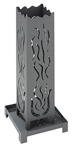 Landmann carbonella Barbecue caminetto a Colonna Collection numero 1, Argento