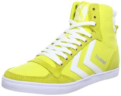 Hummel 63-111-5274, Baskets mode mixte adulte - Jaune (Blazing Yellow/White 5274), 36 EU