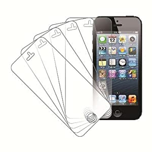 MPERO 5 Pack of Ultra Clear Screen Protectors for Apple iPhone 5 / 5S / 5C