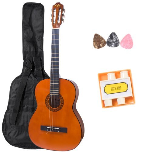 Kalos 39-Inches Acoustic Classic Guitar Package With Gig Bag, Pitch Pipe & Picks(3) - Cgp-39