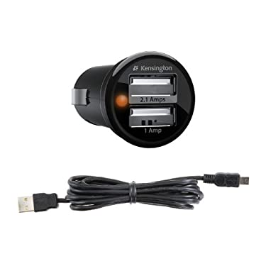 Kindle Fire PowerBolt Duo USB Car Charger with USB Cable by Kensington