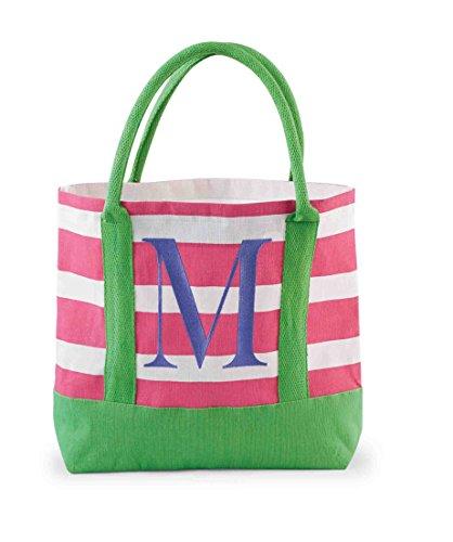 Mud Pie Juco Initial Tote, M (M Mud Pie Bag compare prices)