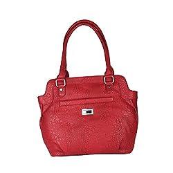 Hide Bulls Casual Pu Handbags For Women in Color Maroon