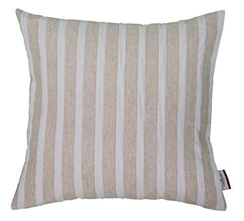 Tom Tailor 564138 Kissenhülle T-Linen Stripes, mischgewebe, 60 x 60 cm, natur