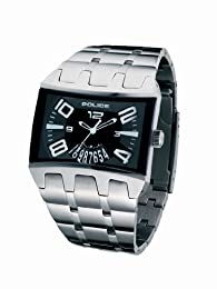Police 'Dimension' Gents Stainless Steel Bracelet Watch With Black Dial