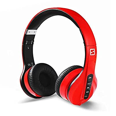 Apie Wireless Bluetooth Headphones Foldable Over-Ear Headset Stereo with In-line Microphone Sweatproof Extremely Portable and Adjustable for Smart Phones ipad ipod Mp3 mp4 Best Earphones